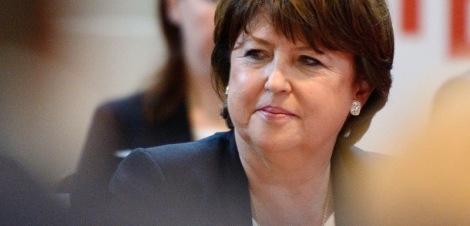La maire de Lille, Martine Aubry, a renoncé à ses ambitions pour le Congrès PS de juin prochain / Crédit : AFP