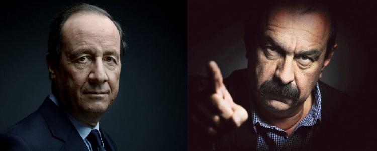 Le président de la République, François Hollande et le secrétaire général de la CGT, Philippe Martinez.
